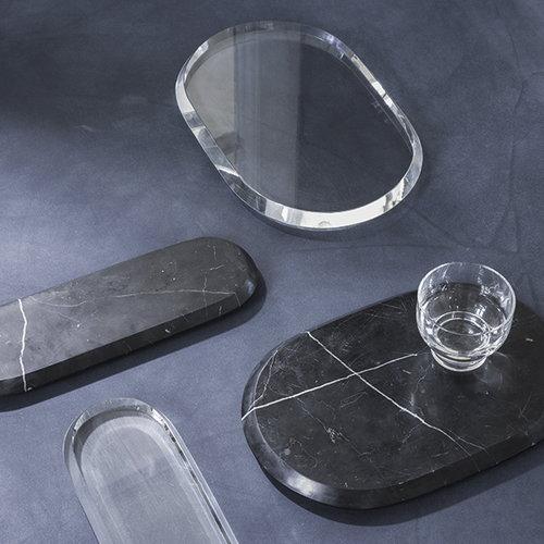 Menu Chamfer serving board, S, crystal
