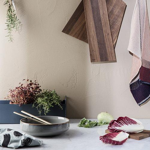 Ferm Living Asymmetric cutting board, medium, smoked oak
