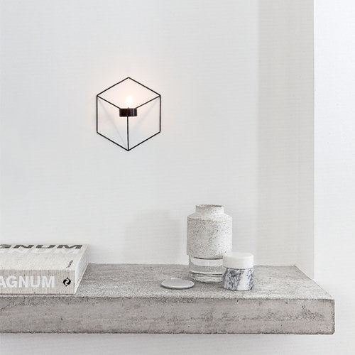 Menu POV candleholder wall, black
