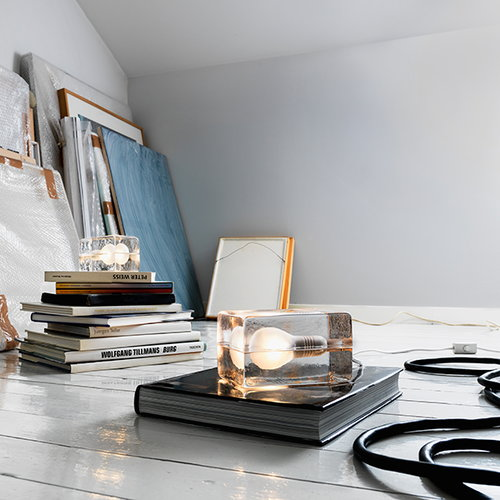 Design House Stockholm Block Lamp, white cord