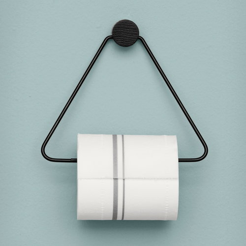 Ferm Living Toilet paper holder, black