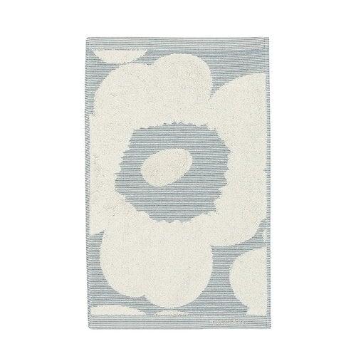 Marimekko Unikko Jacquard guest towel, off-white - blue