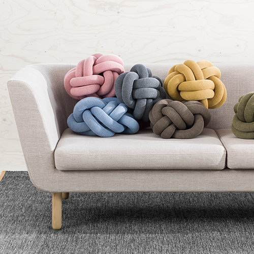 Design House Stockholm Knot tyyny, harmaa