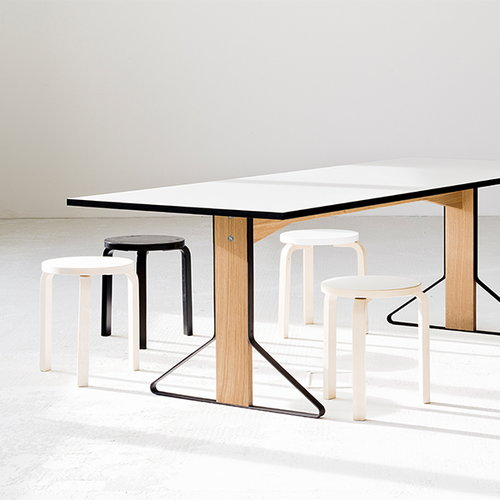 Artek REB 001 Kaari table, white HPL / oak