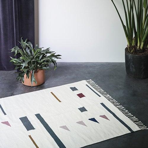 Ferm Living Kelim rug, Triangles, small