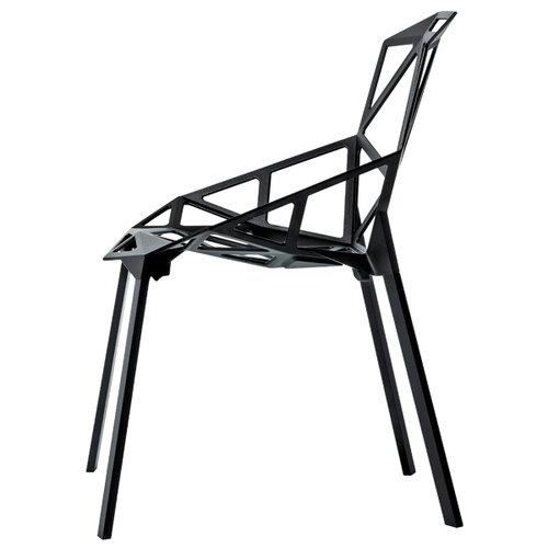 Magis Chair One, black, painted aluminium legs