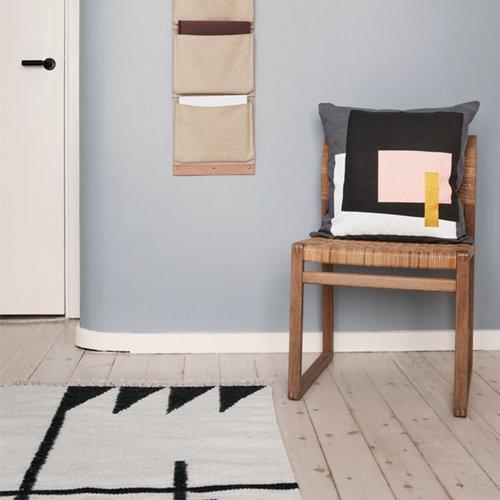Ferm Living Kelim rug, Black Lines, small