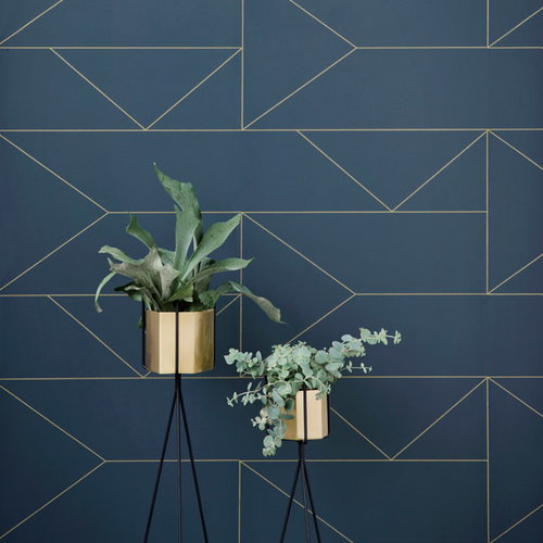 Ferm Living Hexagon pot XL, brass