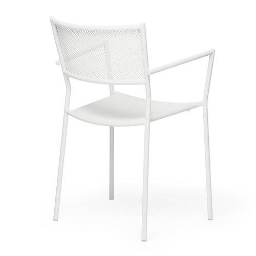 Massproductions Jig Mesh armchair, white