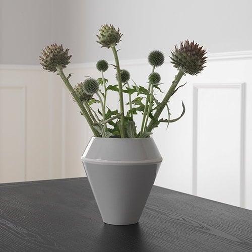 By Lassen Rimm vase, tall, cool grey