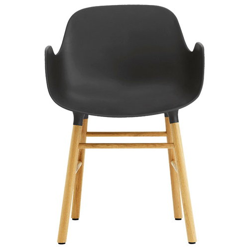 Normann Copenhagen Form k�sinojallinen tuoli, musta/tammi