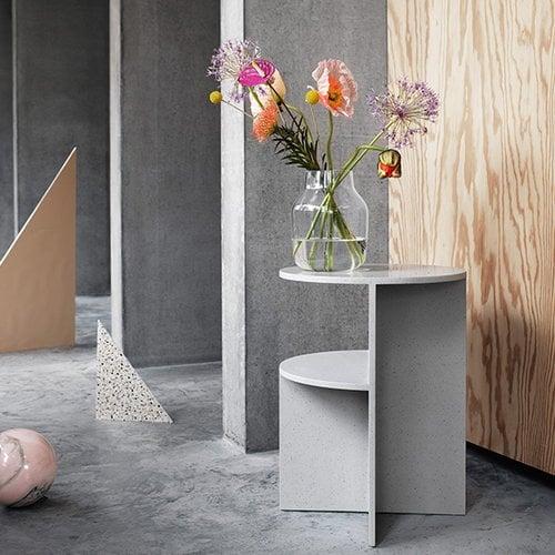 Muuto Halves side table, light grey