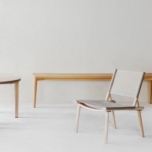 Nikari December XL chair, ash, canvas upholstery
