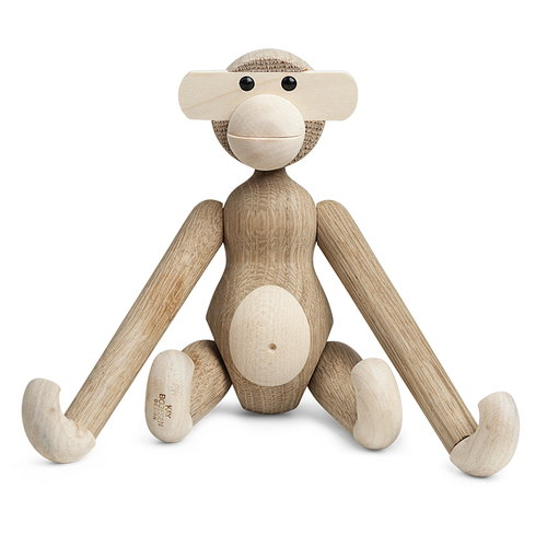 Kay Bojesen Wooden monkey, oak/maple, small