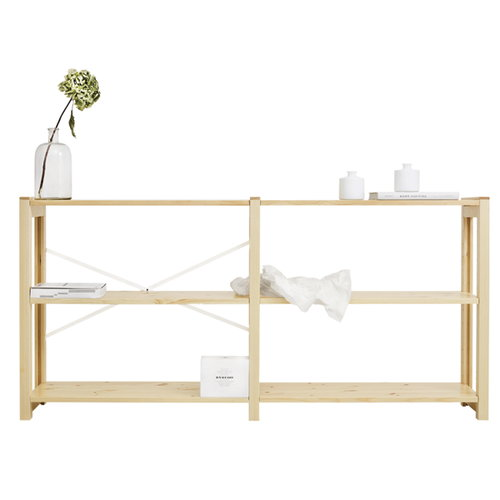 Lundia Open shelf, wide, lacquered