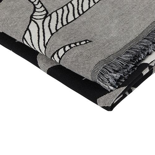 Marimekko Veljekset blanket, black-white