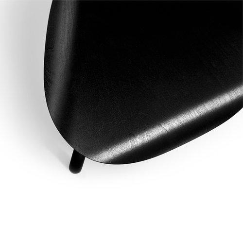 Artek Lukki jakkara, maalattu musta