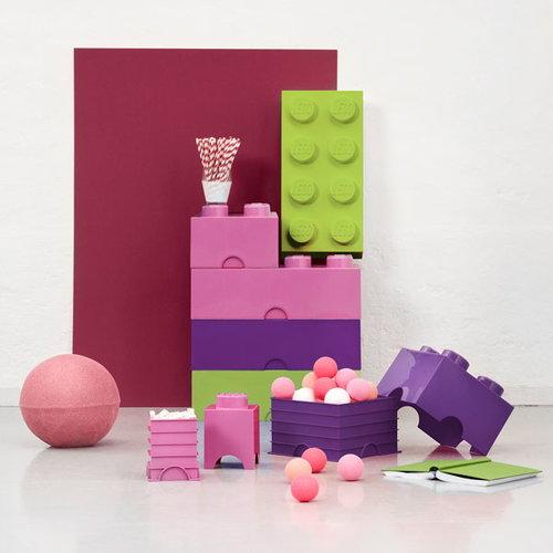 Room Copenhagen Lego Storage Brick 4, medium pink