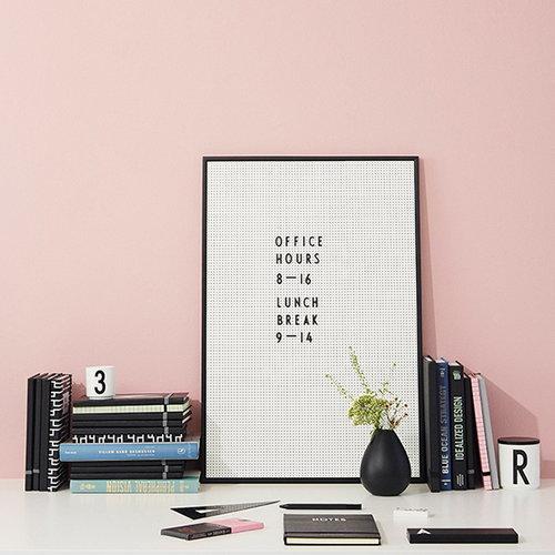 Design Letters Muistitaulu A2, harmaa