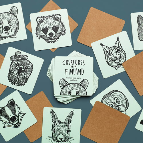 Andbros Creatures from Finland memory game