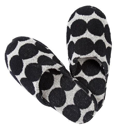 Marimekko R�symekko slippers, black-white