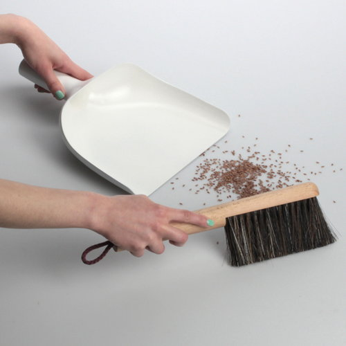 Menu Set scopa e paletta Sweeper & Funnel, nero