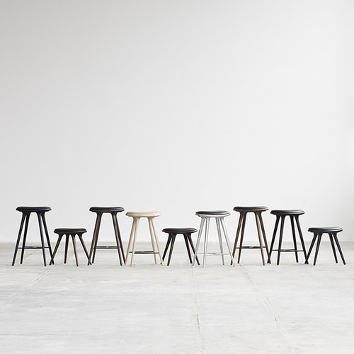 Mater High Stool, 74 cm, black stained beech