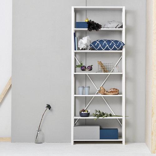 Lundia Open shelf, high, white