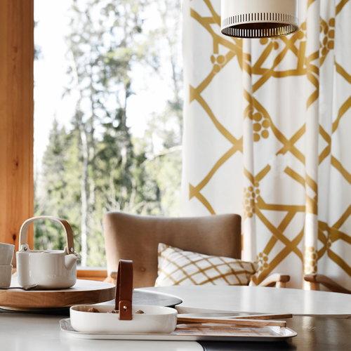 Marimekko Quilt cushion cover natural white - gold