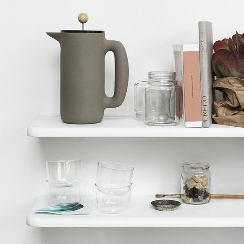 Muuto Push coffee maker, soft grey