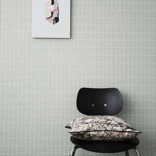 Ferm Living Grid wallpaper, dusty Green
