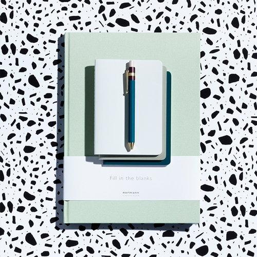 Normann Copenhagen Daily Fiction notebook, large, light moss