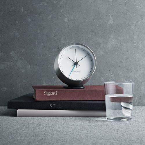 Georg Jensen HK clock with alarm, black