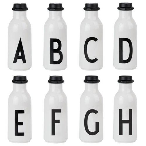 Design Letters Arne Jacobsen drinking bottle A-Z