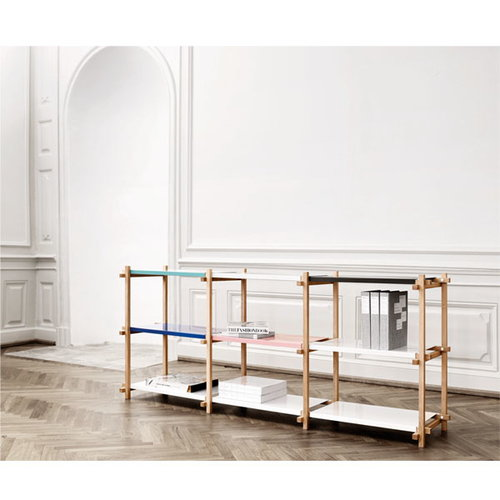 Hay Woody low shelving system, white