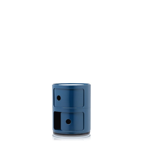 Kartell Componibili storage unit, 2 modules, blue