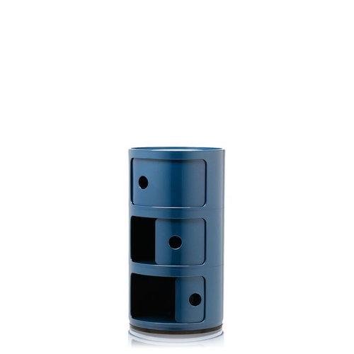 Kartell Componibili storage unit, 3 modules, blue
