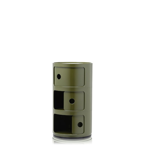 Kartell Componibili storage unit, 3 modules, green