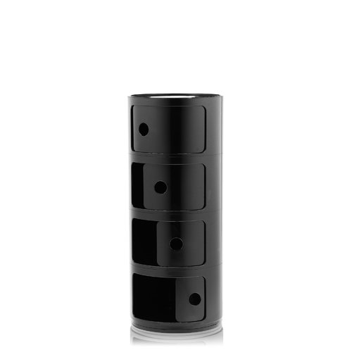 Kartell Componibili storage unit, 4 modules, black