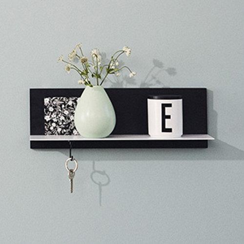 Design Letters Black Single Shelf, short