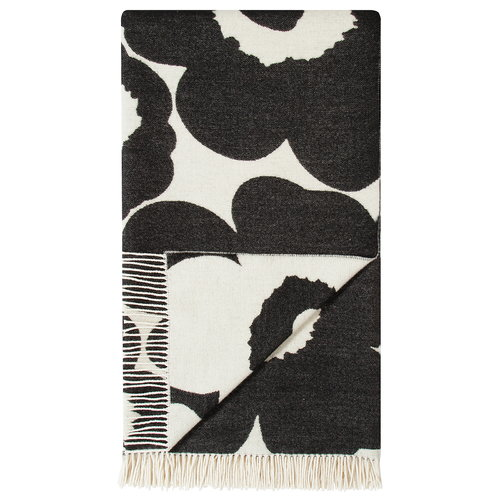 Marimekko Unikko throw, white-black