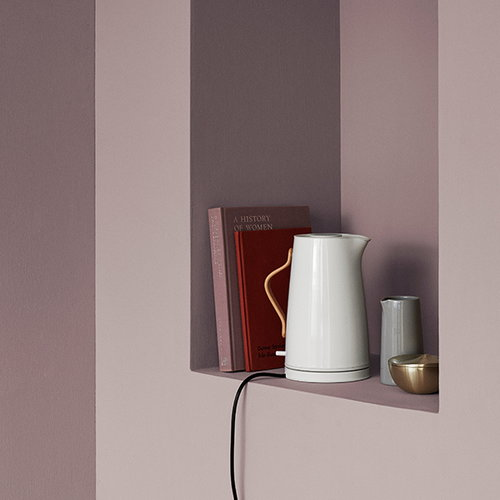 Stelton Emma electric kettle, white chalk