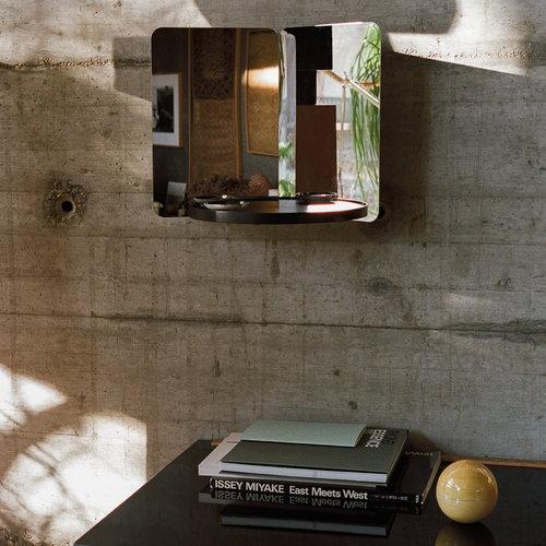 Artek 124 degrees mirror, medium, ash shelf