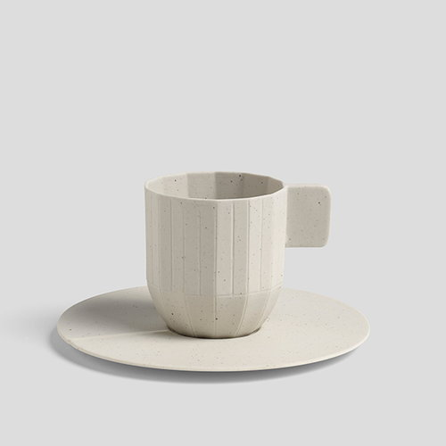 Hay Paper porcelain espresso saucer, light grey