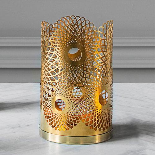 Skultuna Feather candleholder, brass