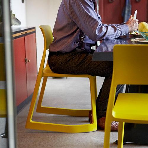 Vitra Tip Ton chair, mustard