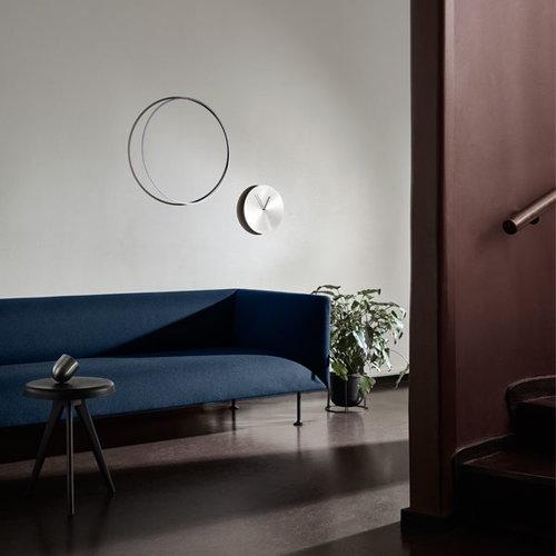 Menu Norm wall clock, brushed brass