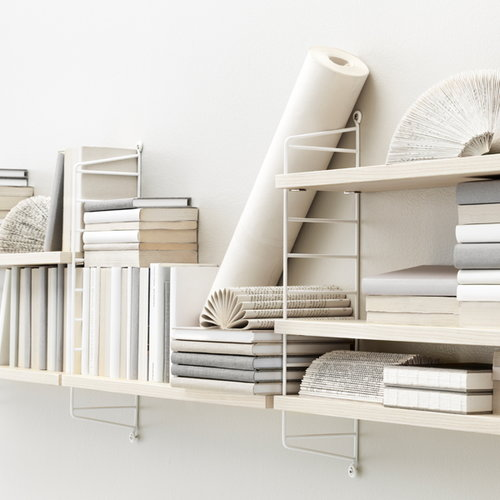String String Pocket shelf, ash-white