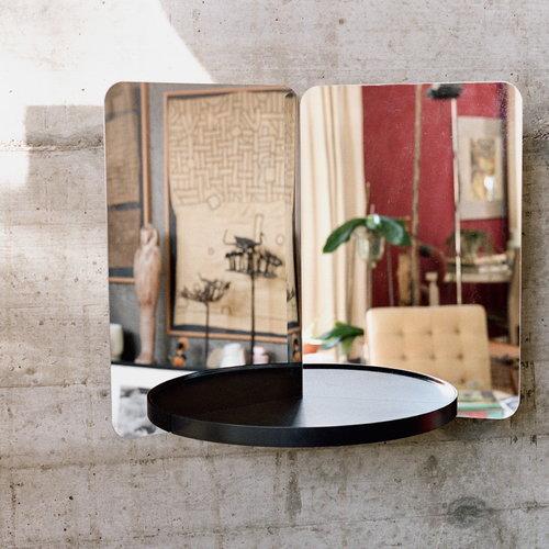 Artek Specchio 124 degrees, medio, mensola frassino
