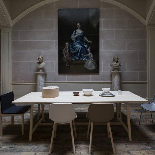 Hay Neu13 chair, white/matt lacquered ash